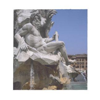 Fontana dei Quattro Fiumi, Piazza Navona, Rome, Memo Pad
