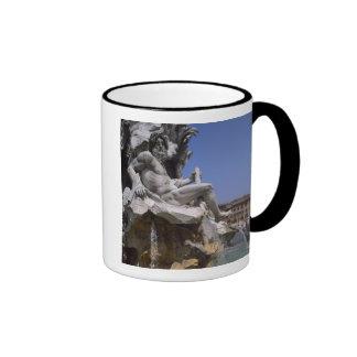 Fontana dei Quattro Fiumi, Piazza Navona, Rome, Ringer Mug