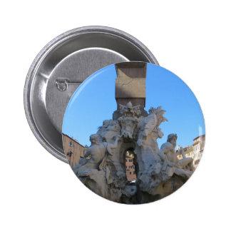 Fontana dei Quattro Fiumi Pinback Button