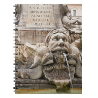 Fontana del Pantheon (1575) designed by Giacomo 2 Spiral Notebook