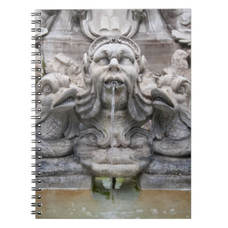 Fontana del Pantheon (1575) designed by Giacomo Spiral Notebook