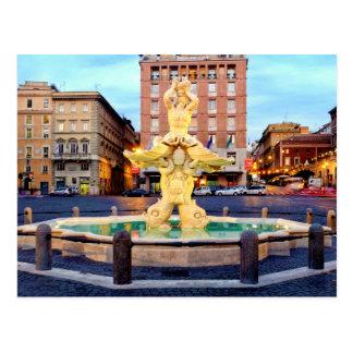 Fontana del tritone postcard