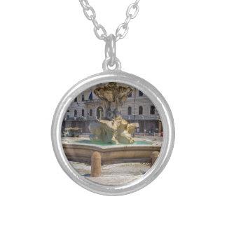 Fontana del Tritone Round Pendant Necklace
