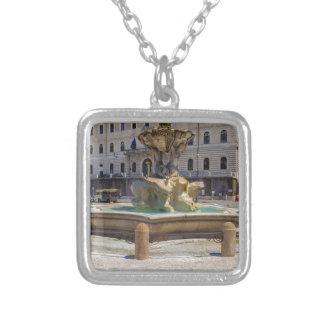 Fontana del Tritone Square Pendant Necklace