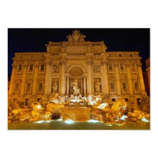 Fontana di Trevi at night,Rome 5x7 Paper Invitation Card