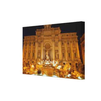 Fontana di Trevi at night,Rome Canvas Print