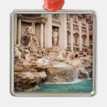 Fontana di Trevi, Roma Adorno Navideño Cuadrado De Metal
