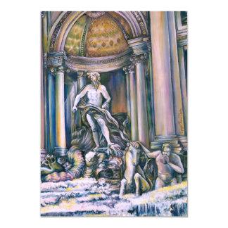 """Fontana Di Trevi, Roma Invitación 5"""" X 7"""""""