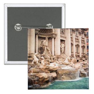 Fontana di Trevi, Roma Pin Cuadrada 5 Cm
