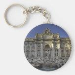 Fontana Di Trevi, Rome Basic Round Button Keychain