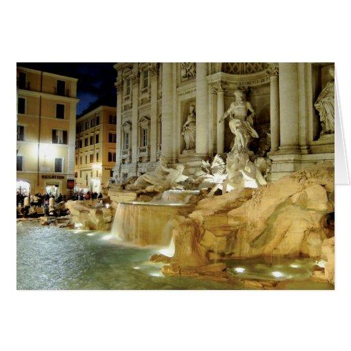 Fontana di Trevi Tarjeta De Felicitación