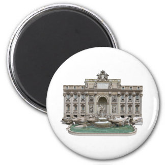Fontana di Trevi: Trevi Fountain: 3D Model: 2 Inch Round Magnet
