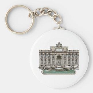 Fontana di Trevi: Trevi Fountain: 3D Model: Basic Round Button Keychain