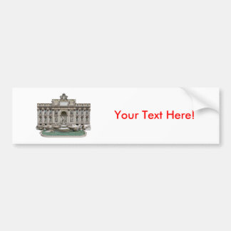 Fontana di Trevi: Trevi Fountain: 3D Model: Bumper Sticker
