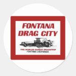 Fontana Drag Strip Classic Round Sticker
