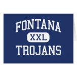 Fontana Trojans Middle Fontana California Greeting Card