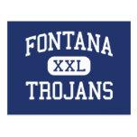 Fontana Trojans Middle Fontana California Post Card