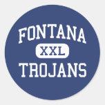 Fontana Trojans Middle Fontana California Round Sticker