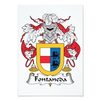 Fontaneda Family Crest Personalized Invite