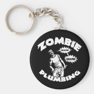 Fontanería del zombi llavero redondo tipo pin