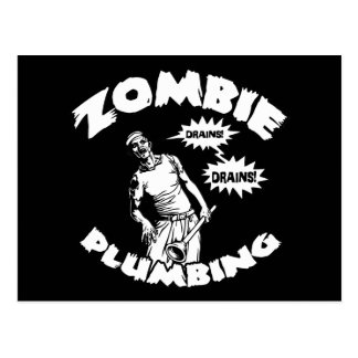 Fontanería del zombi tarjeta postal