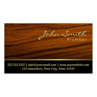Fontanería profesional de madera elegante del tarjetas de visita