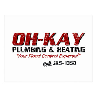 Fontanería y calefacción de OH-KAY (apenadas) Tarjeta Postal