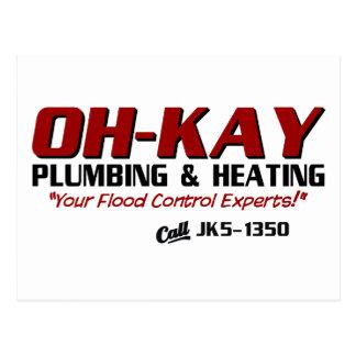 Fontanería y calefacción de OH-KAY Postales