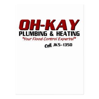Fontanería y calefacción de OH-KAY Tarjetas Postales