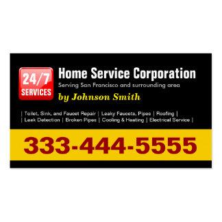 Fontanero - 24 Hours Home Service Corporation Tarjetas De Visita