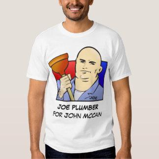 FONTANERO de JOE para John McCain Playera