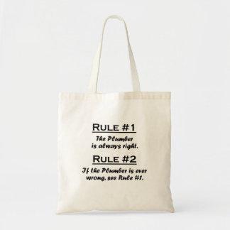 Fontanero de la regla bolsas