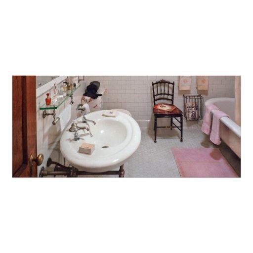 Fontanero - el cuarto de baño tarjeta publicitaria personalizada