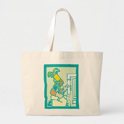 Fontanero maya bolsa tela grande