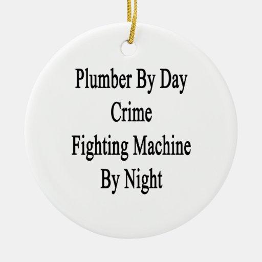 Fontanero por la máquina que lucha del crimen del adorno redondo de cerámica