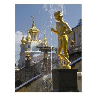 fontans of Petergof, St. Petersburg, Russia Postcard