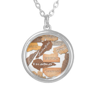 Fonts I Like Silver Plated Necklace