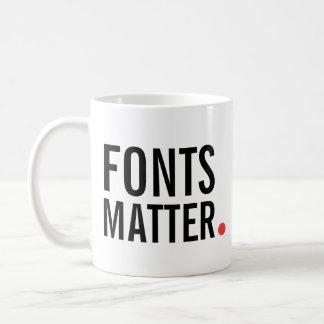 Fonts Matter Coffee Mug