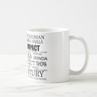 Fonts Mugs