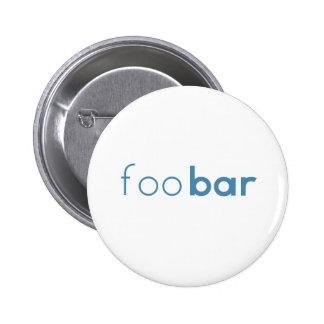 Foo Bar Minimalist Design Pinback Button