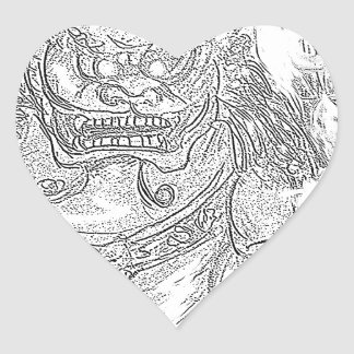 foo dog 10 heart sticker