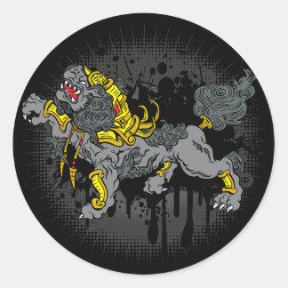 Foo Dog Classic Round Sticker