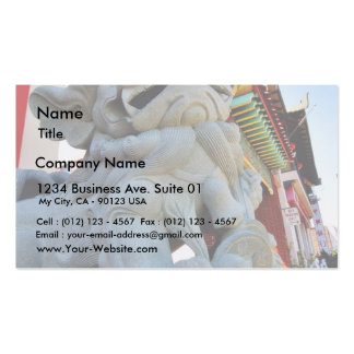 Foo Dog In Chinatown In Los Angeles Business Card Templates