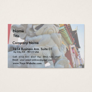 Foo Dog In Chinatown In Los Angeles Business Card