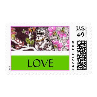 Foo-Dog Love Postage