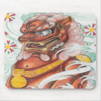 Foo Dog pad by Dana Tyrrell Mousepads