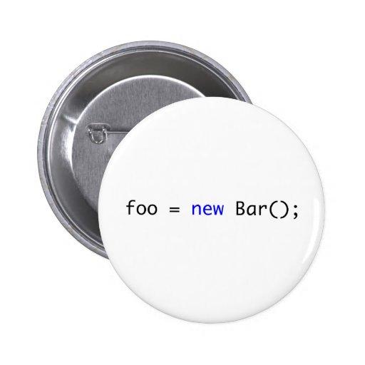 foo = new Bar(); 2 Inch Round Button