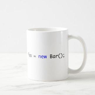 foo = nueva barra (); tazas