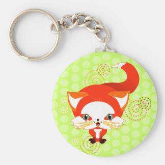 Foo the fox basic round button keychain