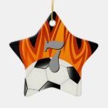 Fooball de Personalizable/ornamento del fútbol Adorno Navideño De Cerámica En Forma De Estrella